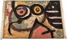Femme et Oiseaux Tapisserie, 1960er