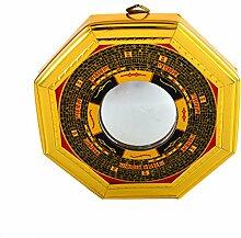 Feng Shui Bagua Konvex Spiegel Pakua W mit rotem