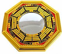 Feng Shui Bagua konvexe Spiegel Pakua W, mit rotem