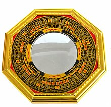 Feng-Shui-Bagua-Spiegel, Pakua W, konvex, mit