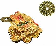 Feng Shui Drei Sie die Beine Reichtum Geld Frosch