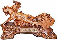 Feng Shui Pferdestatue mit Kohlskulptur Reichtum