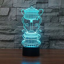 Fengdp 3D LED Nachtlicht Trophy Cup 7 Farbwechsel