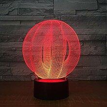 Fengdp Abstrakte 3D led Lampe licht USB nachtlicht