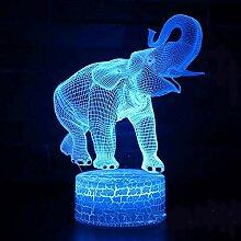 Fengdp Elefant Thema Marke 3D Lampe Spiel LED