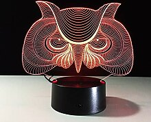 Fengdp Eulenform 3D LED Nachtlicht Baby