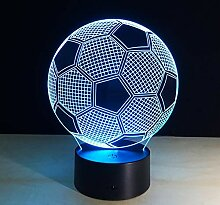 Fengdp Fußball Mode Freizeit 3D Lampe 7 Farbe Led