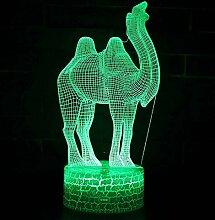 Fengdp Kamelthema 3D Lampe LED Nachtlicht 7