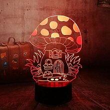 Fengdp Kreative 3D Illusion Lampe led nachtlichter