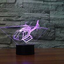 Fengdp Neue Hubschrauber Touch Tischlampe 7 Farbe