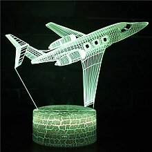 Fengdp Passagierflugzeug Thema 3D Lampe LED