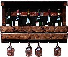 FENGFAN Wein-Halter Wand befestigtes Weinregal,