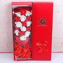 Fenghong 18Pcs künstlicher Rosen-Blumenstrauß,