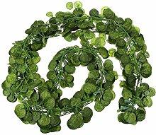 FENICAL 12 Stück Efeu Girlande künstliche Fake hängenden Pflanze Blätter Girlande Haus Garten Dekoration Kürbis Blatt Hochzeit Girlanden Poison Ivy Kostüm Hochzeit Wandtattoo 6,5 f