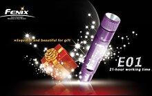 Fenix ??E01 Mini Multi Farb-LED-Taschenlampe Geschenk 1xAAA