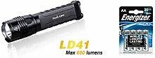 Fenix LD 41 Taschenlampe 680 Lumen inkl. 4 Stück Energizer Lithium AA Batterien