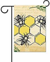 fenrris65 Frühlingsflaggen, Bienengarten,
