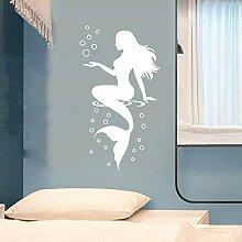 Fenster-Aufkleber Glasfolie Wandsticker Mermaid