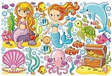 Fenster Aufkleber Mermaid–Unterwasserwelt