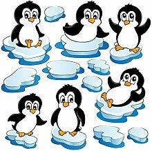 Fenster Aufkleber Pinguin Set Fensterfolie Fenster