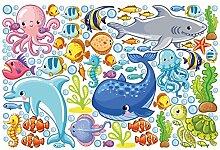 Fenster Aufkleber Unterwasserwelt–Fisch Set