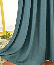 Fenster-Behandlung Eyelet Blackout Vorhänge Thermisch Isolierte Fenster Behandlung Blackout Vorhänge Jalousien für Kinder Zimmer Home Mode, JMQ , blue , 55*95inch?140*240cm?