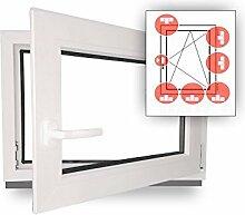 Fenster - Einbruchschutz - weiß - WK2/RC2