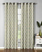 Fenster Elements Wanda Kunstseide Extra Breit Tülle Vorhang Panel, gelb, 54x96