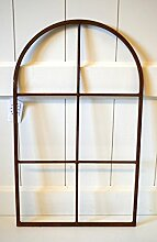 Fenster Fensterrahmen rost Edelrost Metall Wanddeko Deko Garten Skulptur ca. 49cm Fensterdeko Tür-Deko Küchen-Deko Weihnachtsdeko