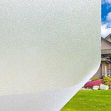 Fenster Film Statische Milchglas Glas Static Cling Ohne Kleber Leimfrei Fenster Aufkleber Blickdicht Löwenzahn Kieselsteine Blumen-Entwurf Dekorfolie Wiederverwendbare Sichtschutzfolie Selbstklebend Window Film blockiert UV Sonnenschutzfolie (Frost Glas Aufkleber)