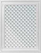 Fenster-Folie | Dekoratives Fensterbild - hochwertige Glasfolie für Fenster in Wohnzimmer und Schlafzimmer | Sichtschutzfolie Fenster-Sticker | Fensterfolie 90 x 120 cm - Motiv Christel