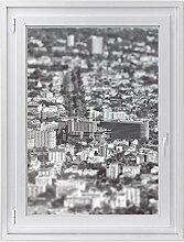 Fenster-Folie | Dekoratives Fensterbild - hochwertige Glasfolie für Fenster in Wohnzimmer und Schlafzimmer | Sichtschutzfolie Fenster-Sticker | Fensterfolie 70 x 100 cm - Motiv Miniature