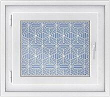 Fenster Folie - selbsklebendes Fensterbild | hochwertige Glasdekor-folie - individueller Fenstersticker | Fenster-Deko für Bad und Küche | Fensterfolie 50 x 40 cm - Design Sternstunde