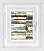 Fenster Folie - selbsklebendes Fensterbild | hochwertige Glasdekor-folie - individueller Fenstersticker | Fenster-Deko für Bad und Küche | Fensterfolie 30 x 40 cm - Motiv Schiffsbruch