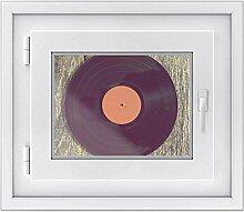 Fenster-folie | selbstklebende Glasdekorfolie - Fensterbild für Küche u. Bad | hochwertige Klebefolie für Fenster im Wohnzimmer u. Schlafzimmer | Fensteraufkleber | Fensterfolie 40 x 30 cm - Vinyl