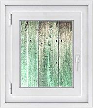 Fenster-folie | selbstklebende Glasdekorfolie - Fensterbild für Küche u. Bad | hochwertige Klebefolie für Fenster im Wohnzimmer u. Schlafzimmer | Fensteraufkleber | Design Plaue Planken - 40 x 50 cm