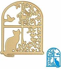 Fenster Metall Formen Gold Schablonen für