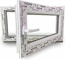 Fenster SCHÜCO CT70, weiß, BxH: 80x80 cm, DIN Links, 2-fach Verglasung 24mm - verschiedene Maße