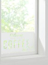 Fenster-Sichtschutzfolie Coffee, weiß