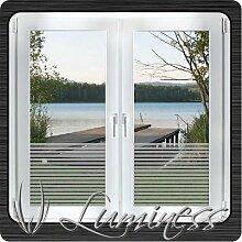 Fenster - Sichtschutzfolie - Dekor S1 farblos - 75 cm x 25 cm - auf Fixierfolie - von Luminess - Made in Germany