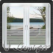 Fenster - Sichtschutzfolie - Dekor S5 farblos - 100 cm x 45 cm - auf Fixierfolie - von Luminess - Made in Germany