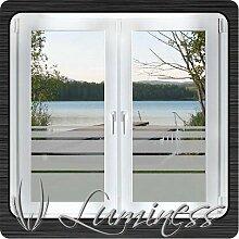 Fenster - Sichtschutzfolie - Dekor S6 farblos - 100 cm x 50 cm - auf Fixierfolie - von Luminess - Made in Germany