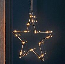 Fenster-Silhouette Stern 30 cm beleuchtet (76506)