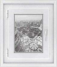 Fenster-Sticker | selbstklebende Fensterfolie - dekorativer Sichtschutz | hochwertige Glasdekorfolie - Klebefolie für Fenster in Küche, Bad und Wohnzimmer | Design Petronas Tower View - 30 x 40 cm