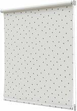 Fenster Verdunkelungsrollo Star MusterWeiß/Grau, 100 % Polyester, Star White/Grey, 120cm x 190cm