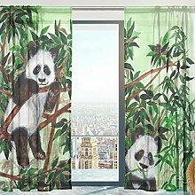 Fenster Vorhänge, Gardinen Panda Muster Modern