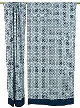 Fenster-Wand-Tür-Vorhänge Hängen Baumwolle gedruckt Vorhang HauptDécor Satz von 2 Stück