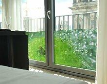 Fenster Wandbild grün Apple Fenster Aufkleber