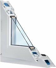 Fenster weiss 2-fach verglast 96x70 (BxH) kipp- und drehbar (DK-links) als Maßanfertigung