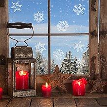Fensteraufkleber 12 Schneeflocken Schnee Winter Winterzauber Schneeflöckchen Fensterbild Schneekristalle Aufkleber Sticker Fensterdekoration